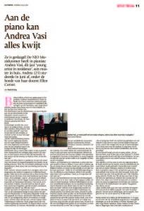 Aan de piano kan Andrea Vasi alles kwijt de Stentor 26.07.2014